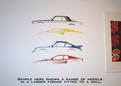 2x Car Silhouette sticker - 1970 Chevrolet Chevelle SS, GM muscle car